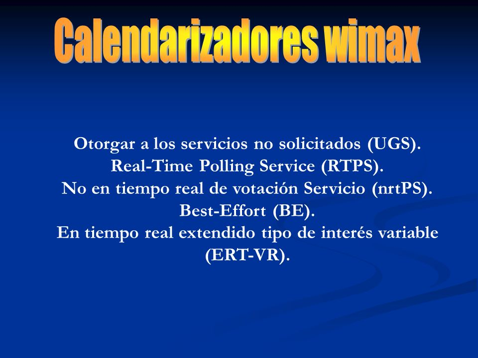 Calendarizadores wimax