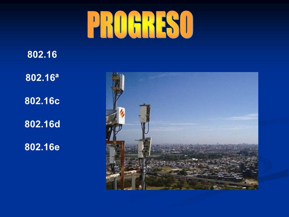 PROGRESO 802.16 802.16ª 802.16c 802.16d 802.16e