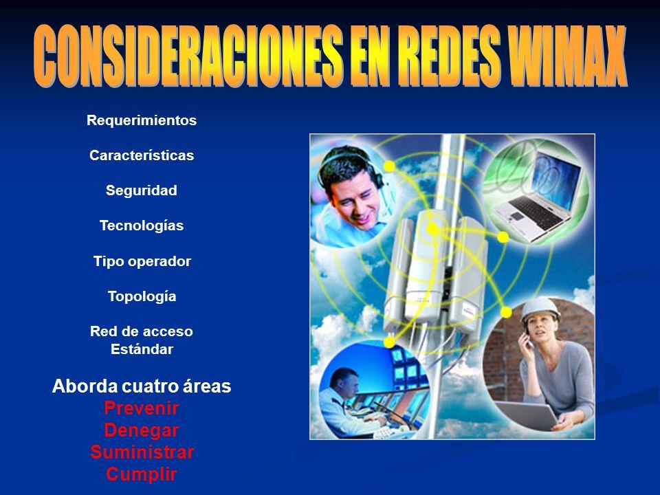 CONSIDERACIONES EN REDES WIMAX