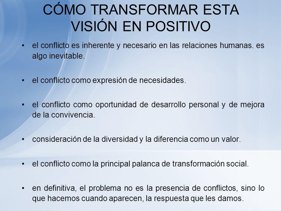 CÓMO TRANSFORMAR ESTA VISIÓN EN POSITIVO