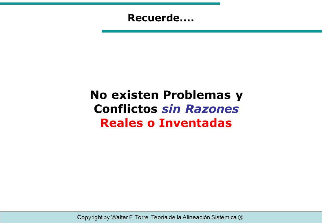 No existen Problemas y Conflictos sin Razones