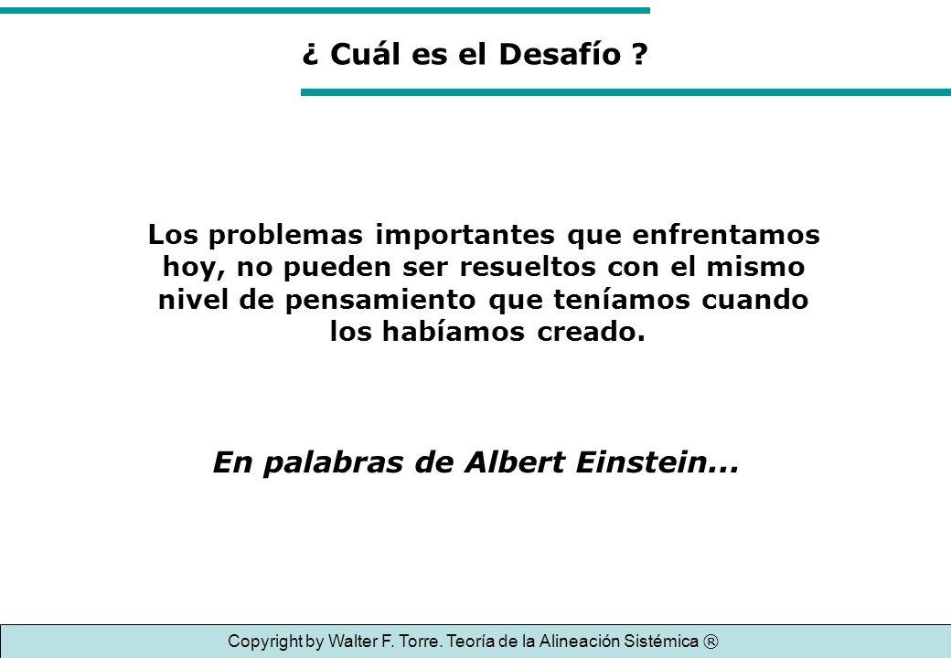 Copyright by Walter F. Torre. Teoría de la Alineación Sistémica ®