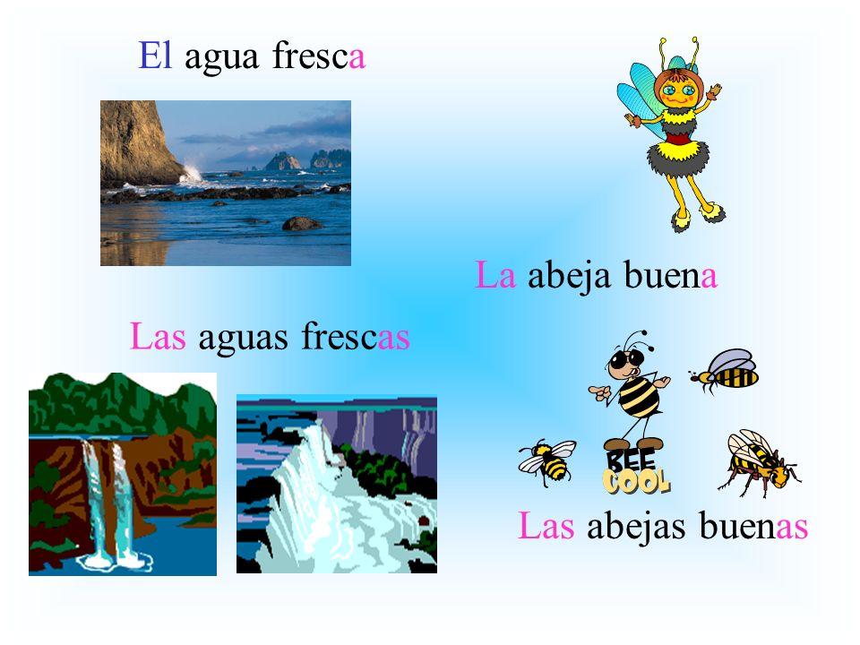 El agua fresca La abeja buena Las aguas frescas Las abejas buenas
