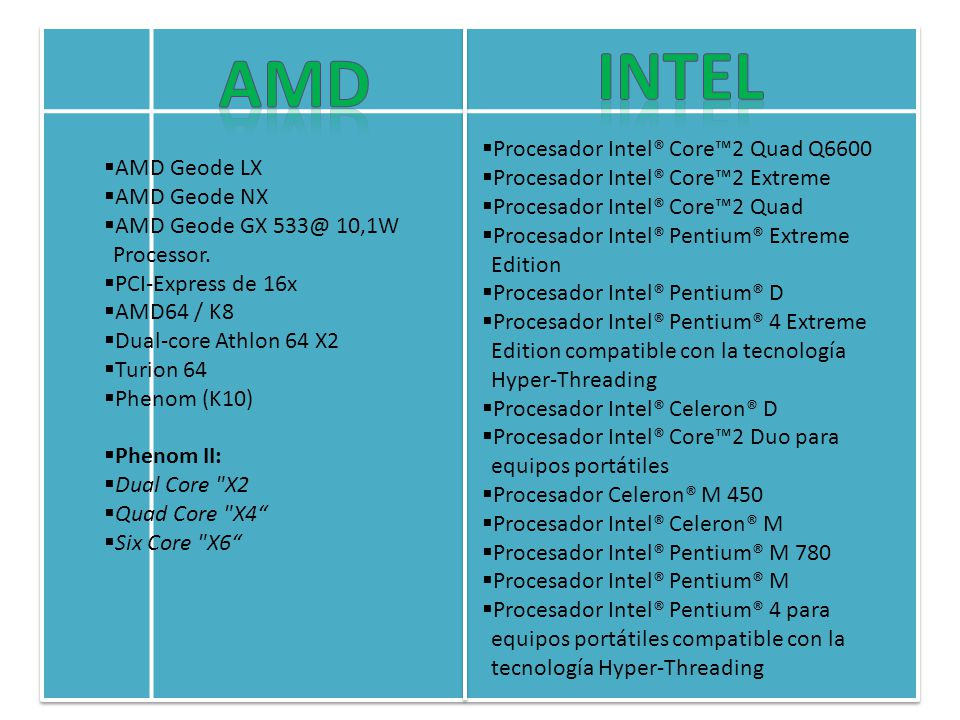 INTEL AMD Procesador Intel® Core™2 Quad Q6600