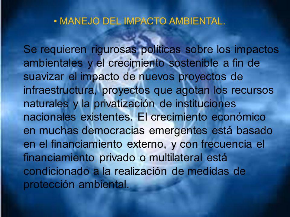 MANEJO DEL IMPACTO AMBIENTAL.
