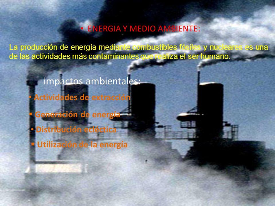 ENERGIA Y MEDIO AMBIENTE:
