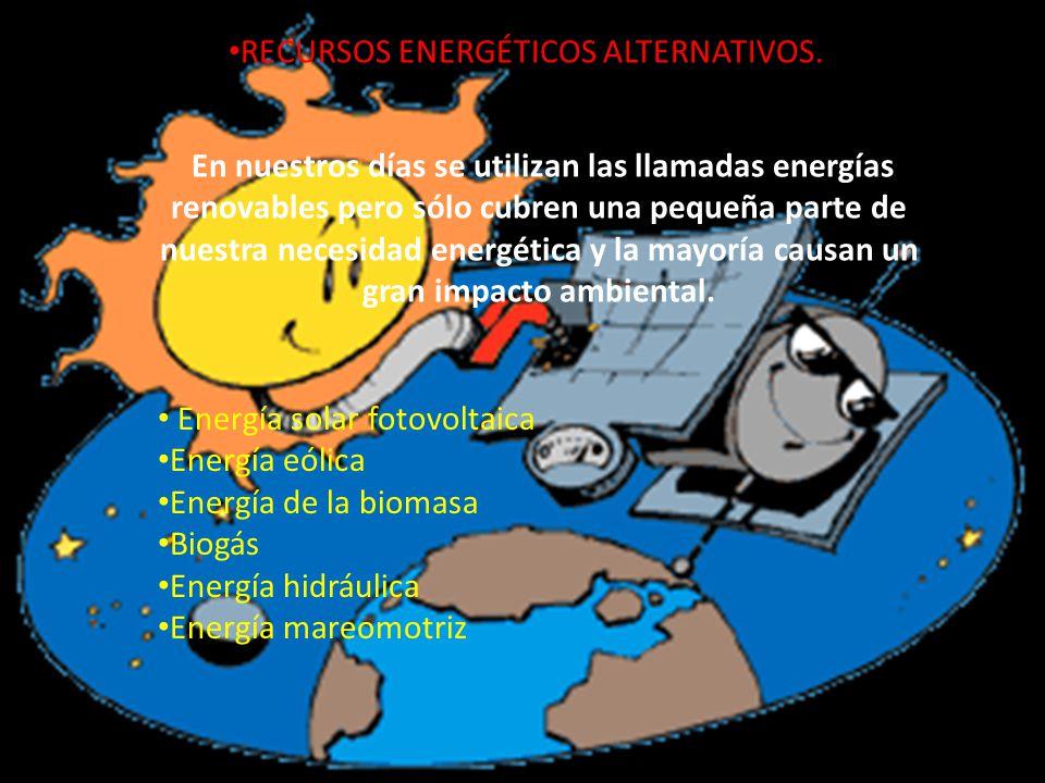 RECURSOS ENERGÉTICOS ALTERNATIVOS.