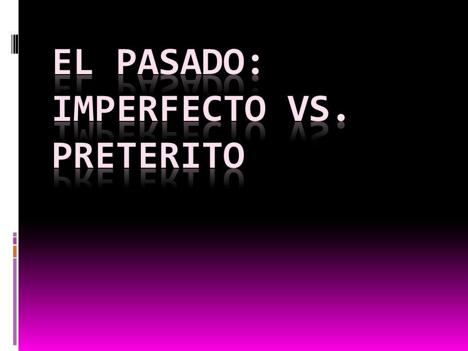 El pasado: imperfecto vs. preterito