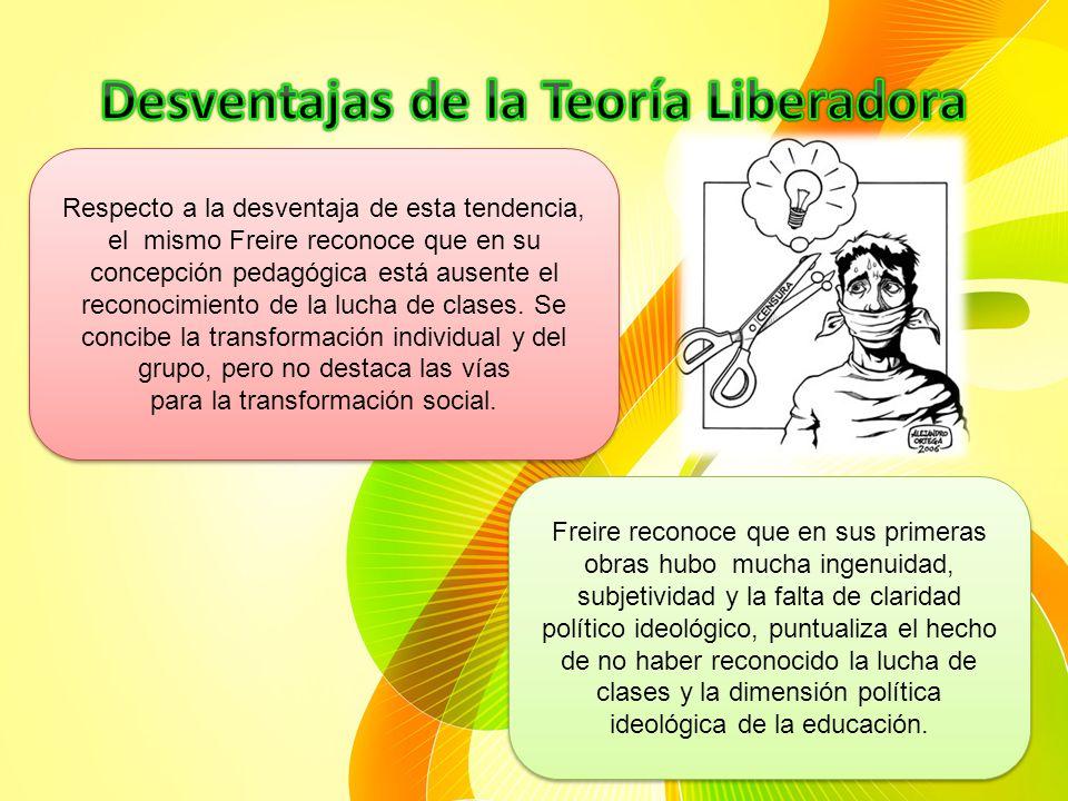 Desventajas de la Teoría Liberadora
