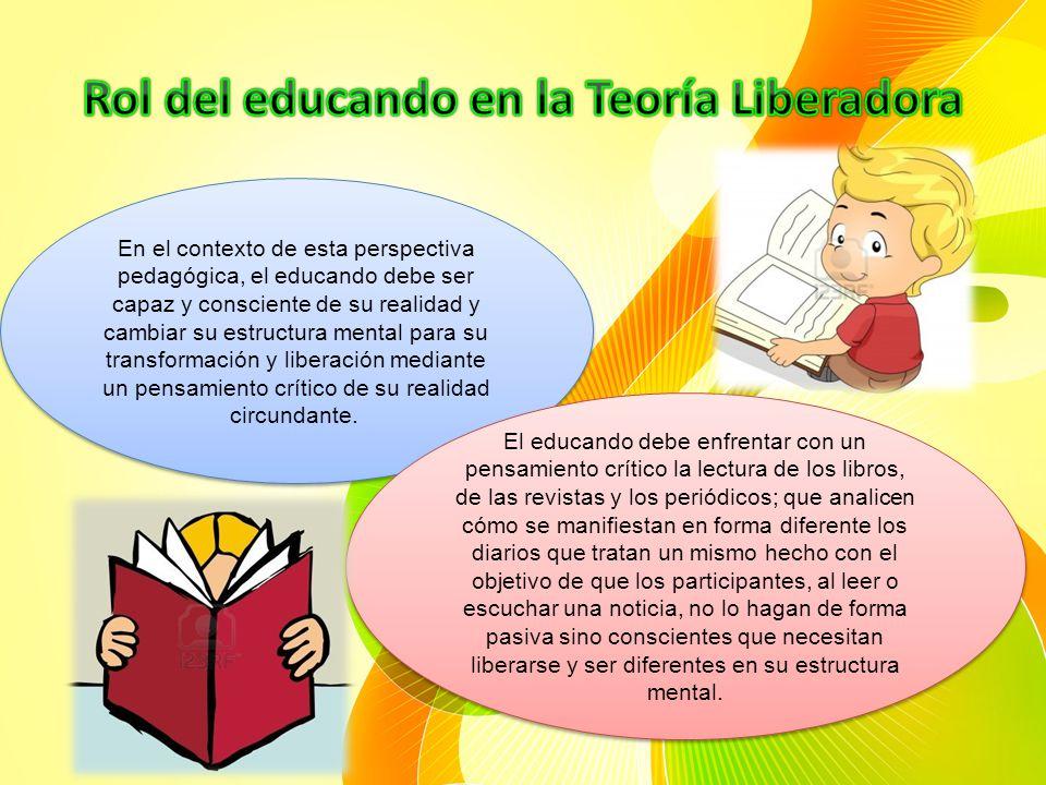 Rol del educando en la Teoría Liberadora