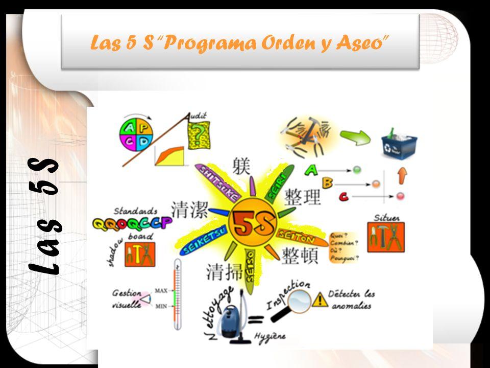 Las 5 S Programa Orden y Aseo