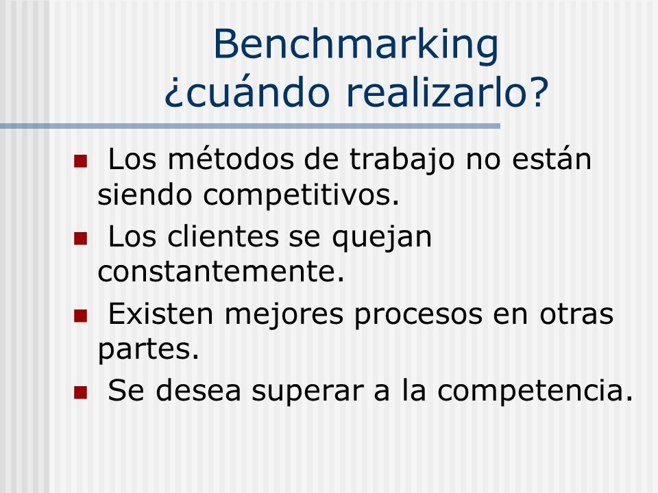 Benchmarking ¿cuándo realizarlo
