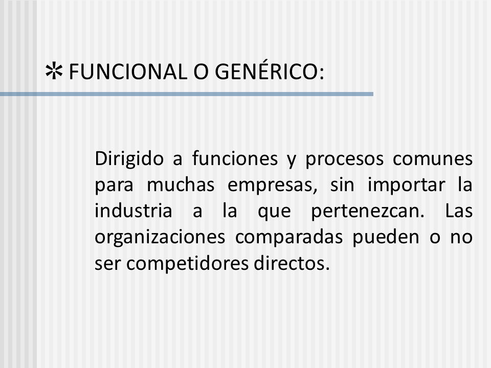 ✲ FUNCIONAL O GENÉRICO: