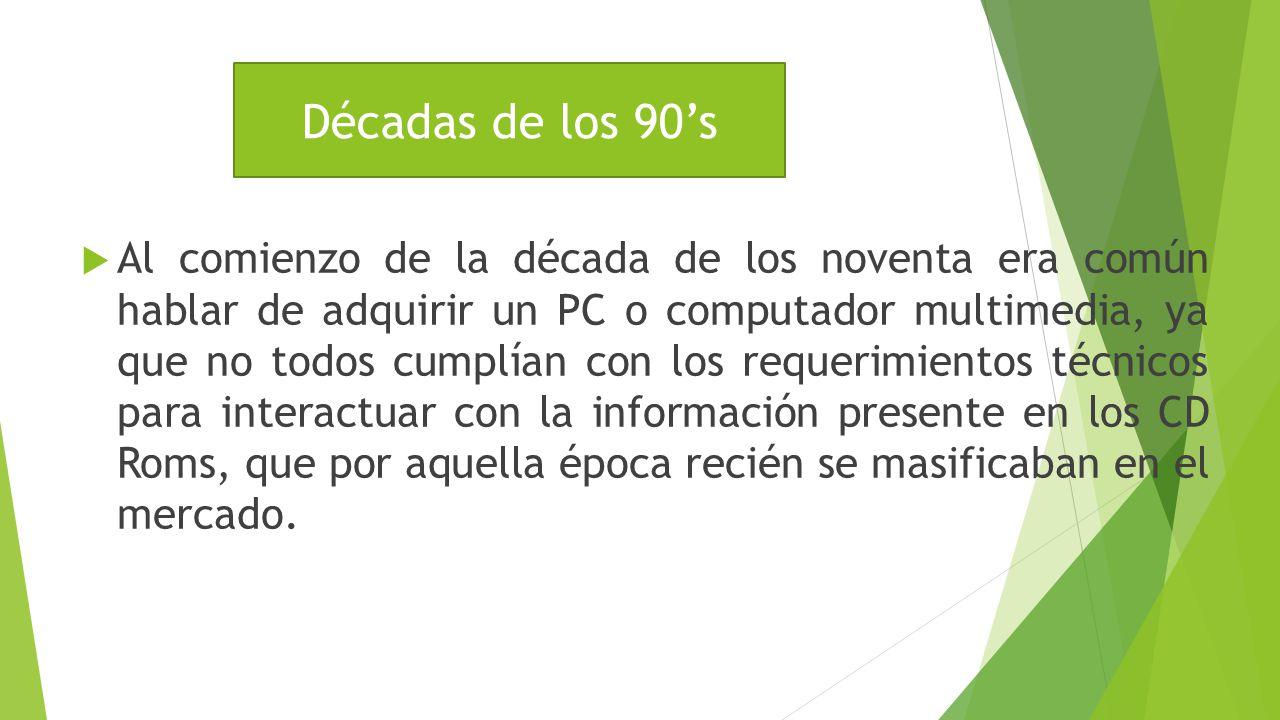 Década de los 90's Décadas de los 90's