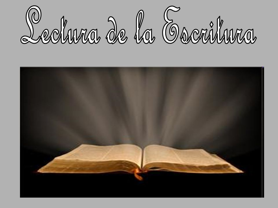 Lectura de la Escritura