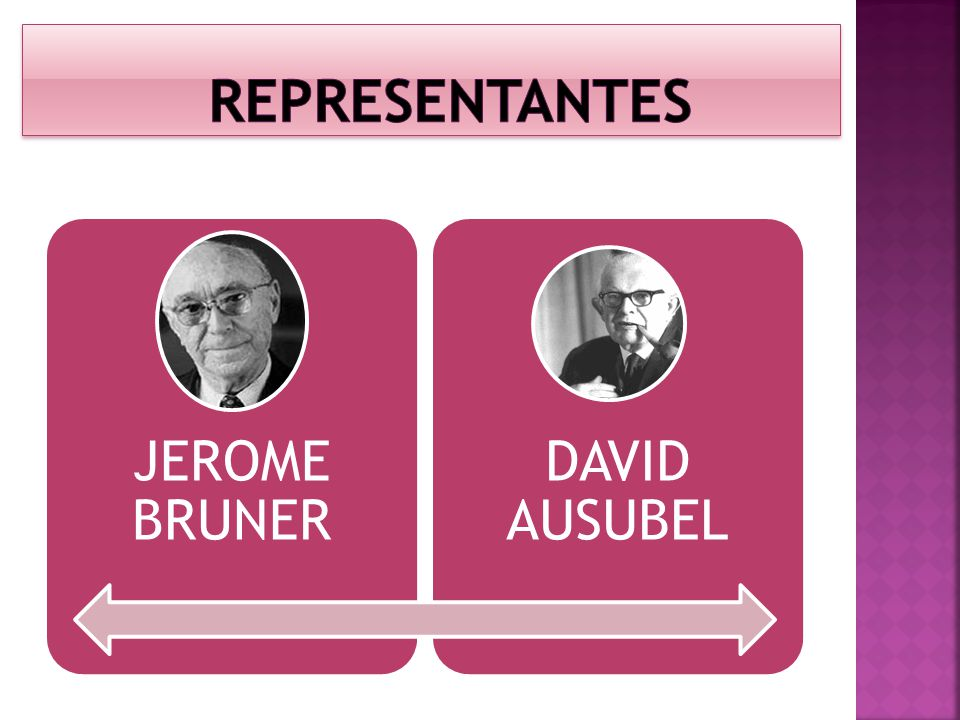 REPRESENTANTES JEROME BRUNER DAVID AUSUBEL