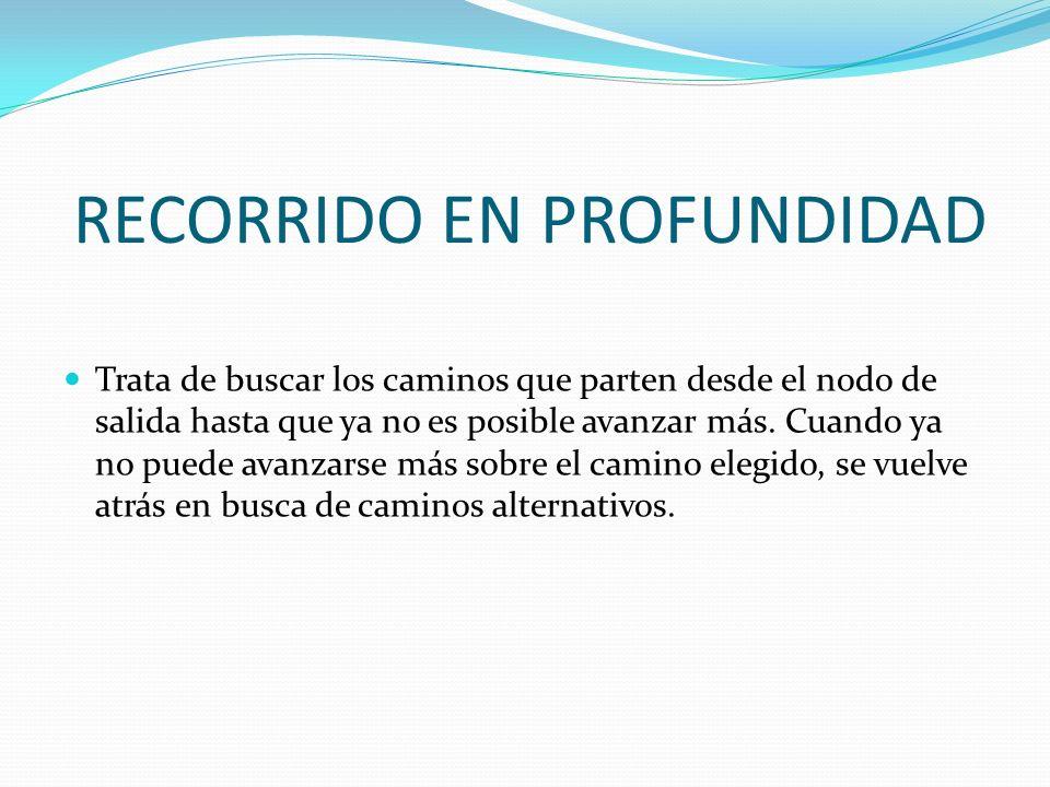 RECORRIDO EN PROFUNDIDAD