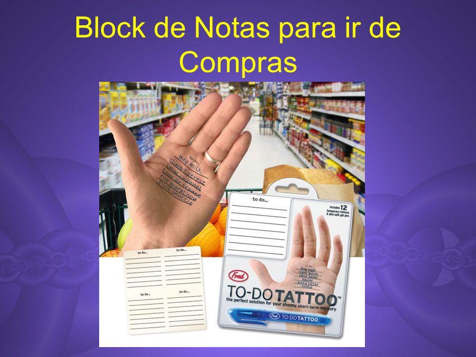 Block de Notas para ir de Compras