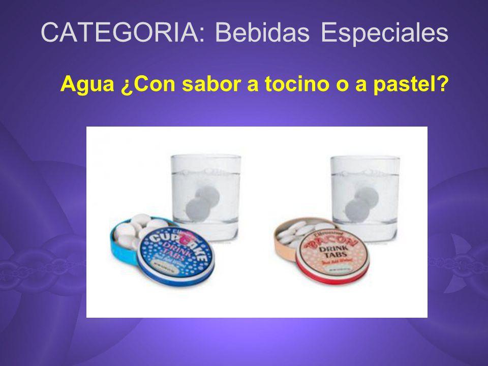 CATEGORIA: Bebidas Especiales