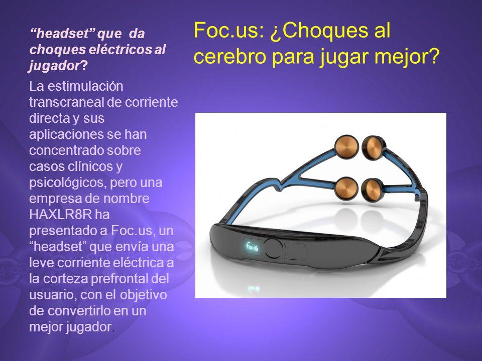 headset que da choques eléctricos al jugador
