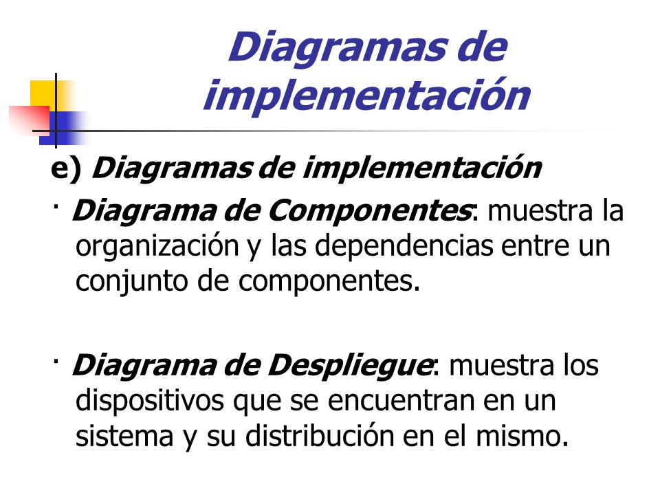 Diagramas de implementación