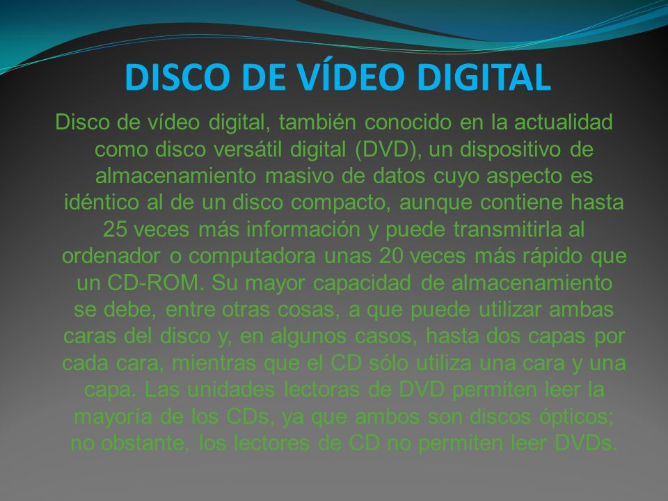 DISCO DE VÍDEO DIGITAL