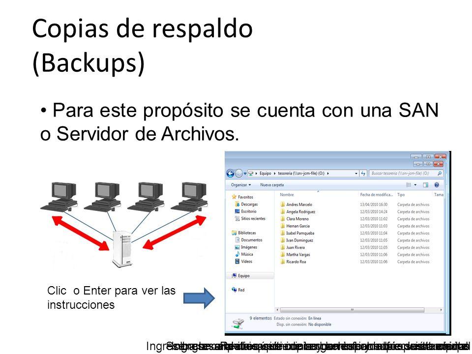 Copias de respaldo (Backups)