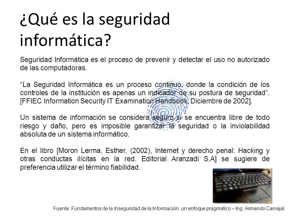 ¿Qué es la seguridad informática