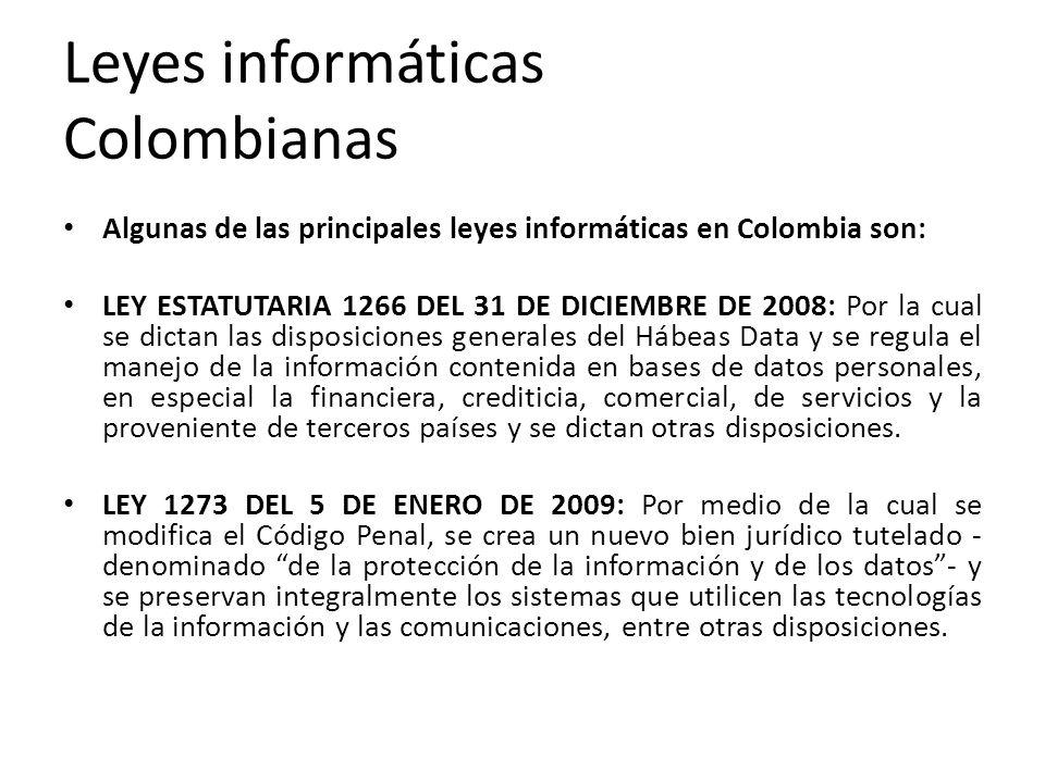 Leyes informáticas Colombianas
