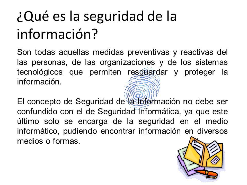¿Qué es la seguridad de la información