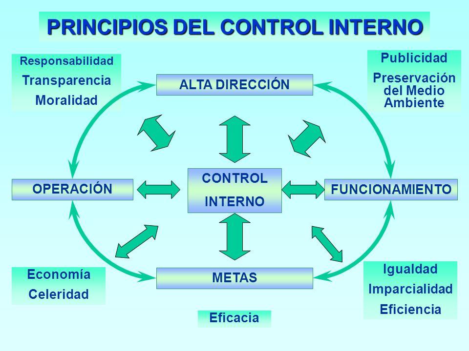 PRINCIPIOS DEL CONTROL INTERNO Preservación del Medio Ambiente