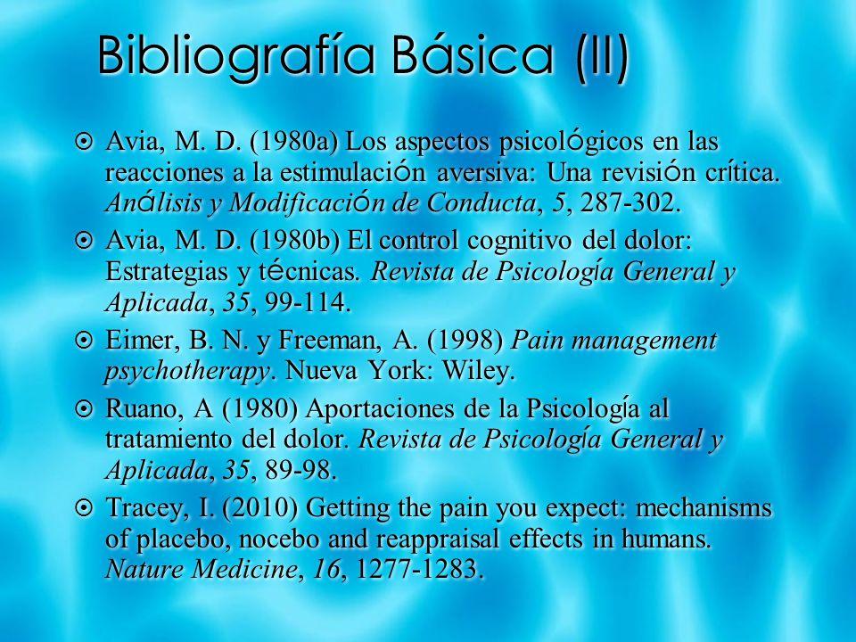 Bibliografía Básica (II)