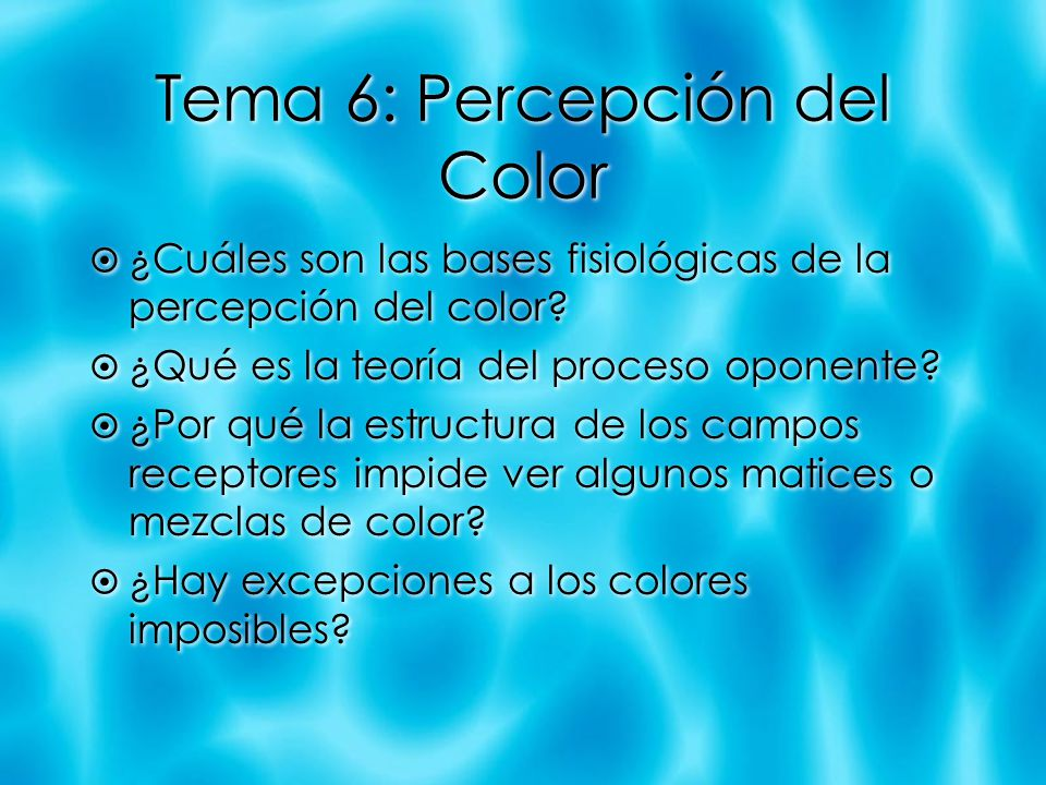 Tema 6: Percepción del Color