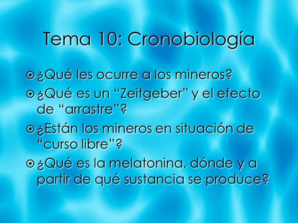 Tema 10: Cronobiología ¿Qué les ocurre a los mineros