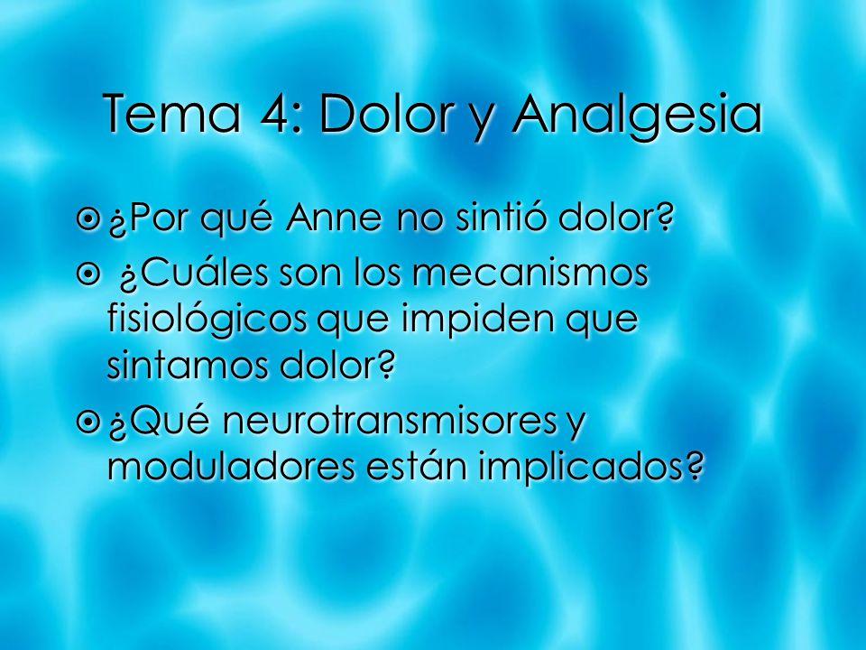 Tema 4: Dolor y Analgesia