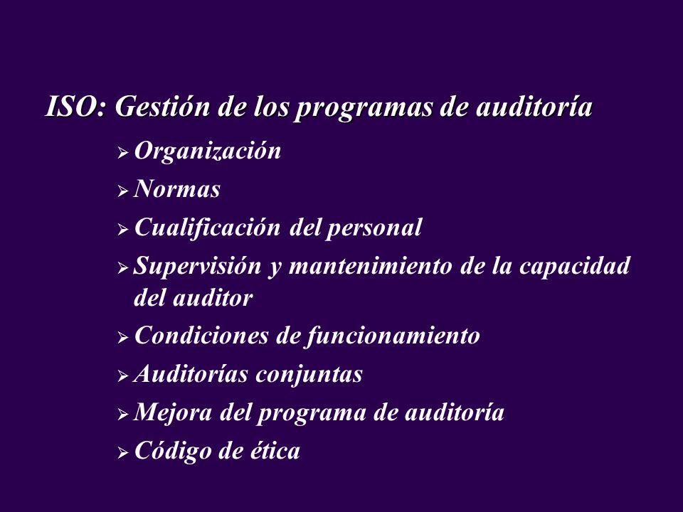 ISO: Gestión de los programas de auditoría