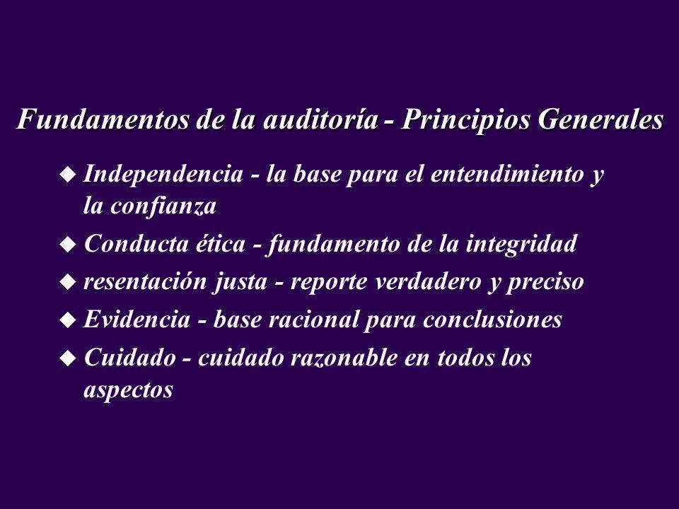 Fundamentos de la auditoría - Principios Generales