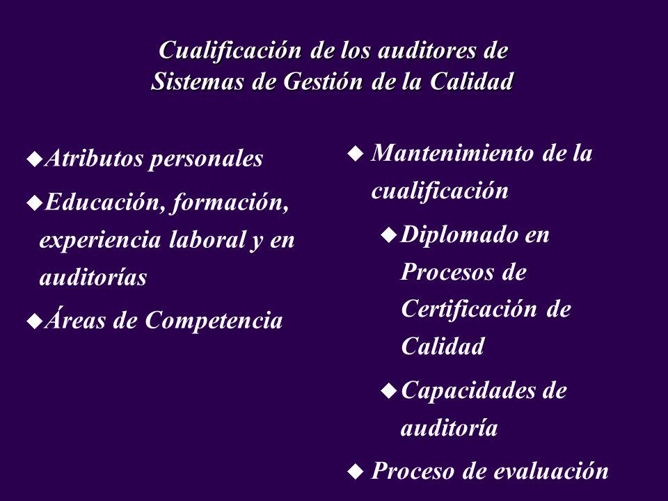 Cualificación de los auditores de Sistemas de Gestión de la Calidad