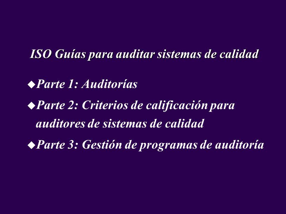 ISO Guías para auditar sistemas de calidad