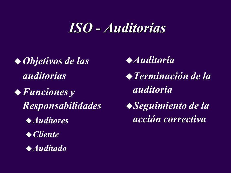 ISO - Auditorías Objetivos de las auditorías