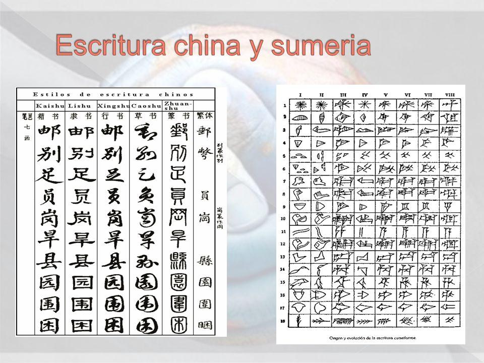 Escritura china y sumeria