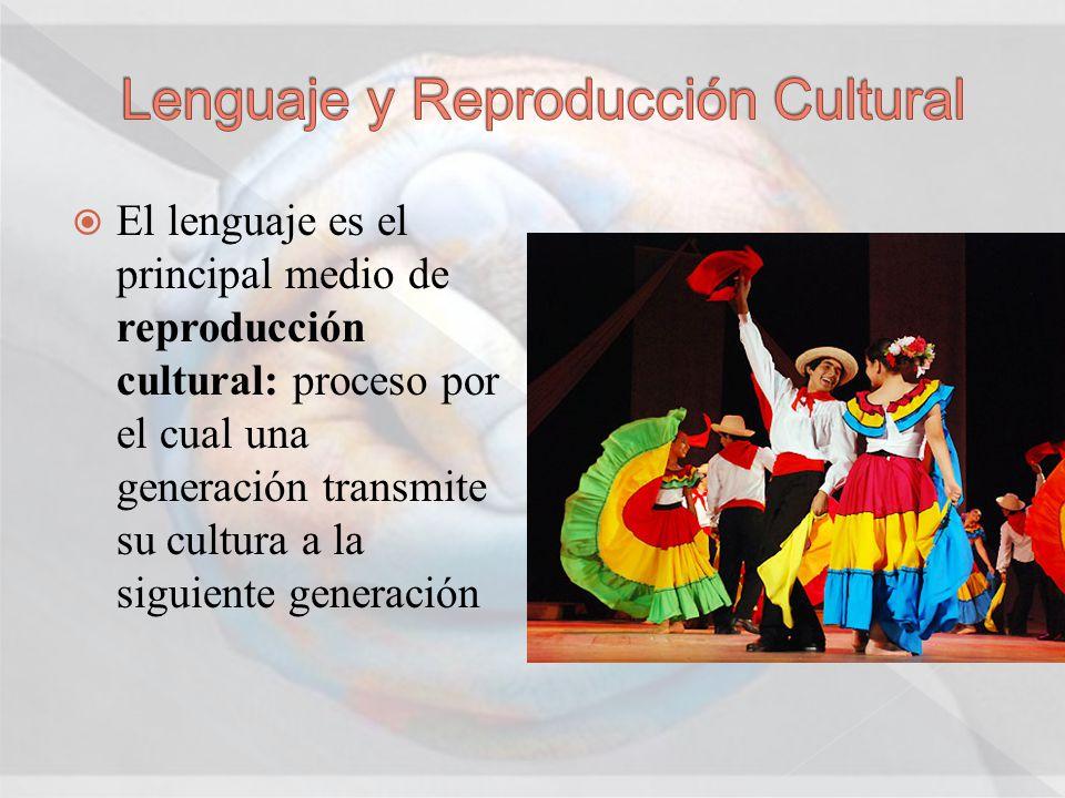 Lenguaje y Reproducción Cultural