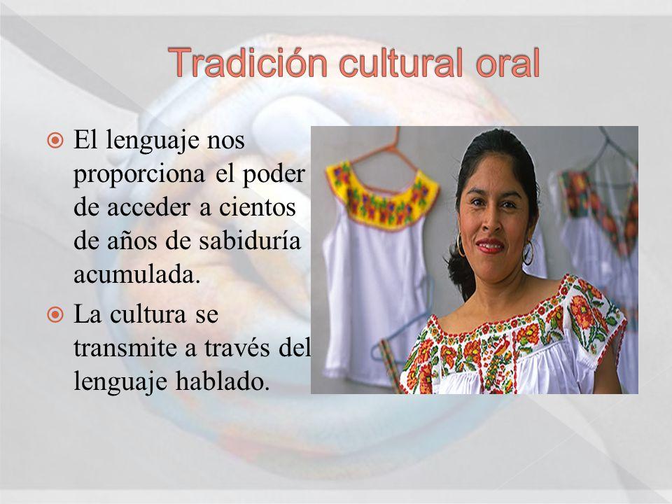 Tradición cultural oral