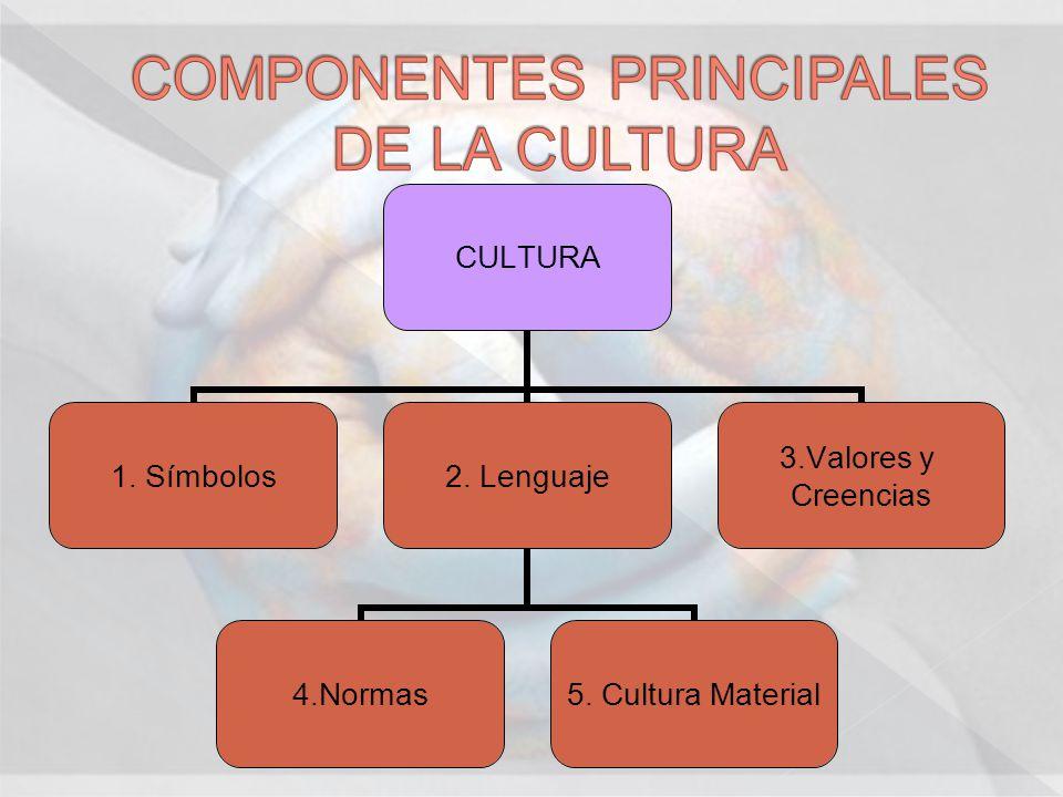 COMPONENTES PRINCIPALES DE LA CULTURA