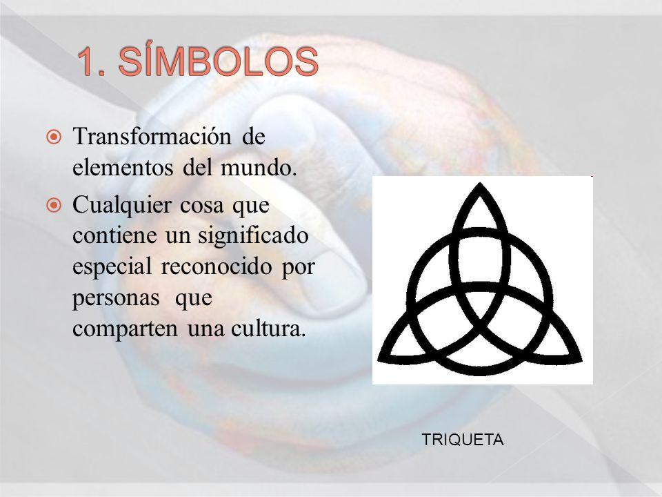 1. SÍMBOLOS Transformación de elementos del mundo.