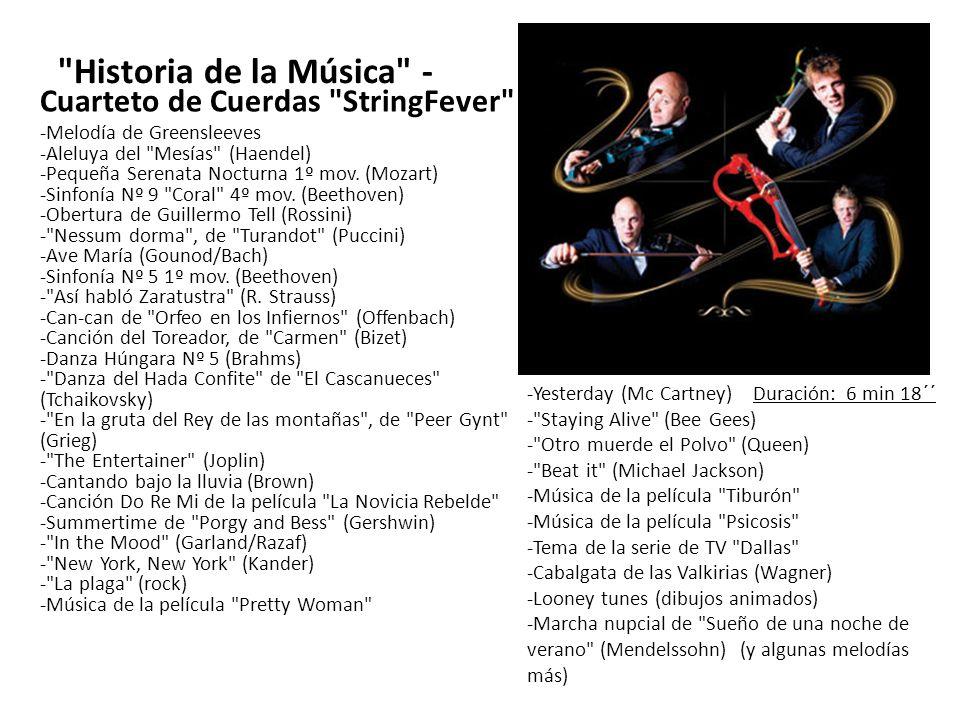 Historia de la Música - Cuarteto de Cuerdas StringFever