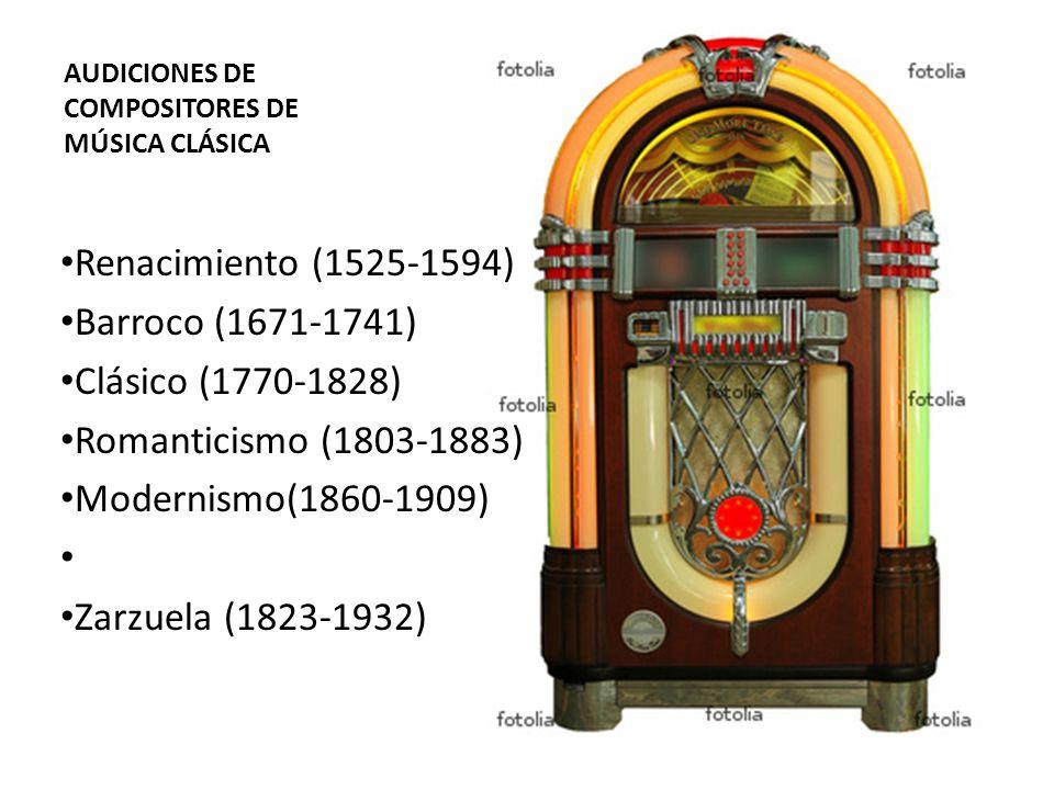 AUDICIONES DE COMPOSITORES DE MÚSICA CLÁSICA