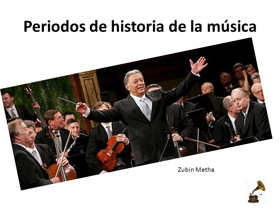 Periodos de historia de la música