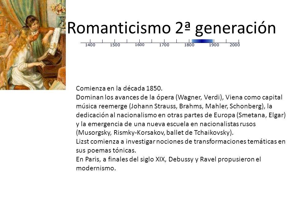 Romanticismo 2ª generación