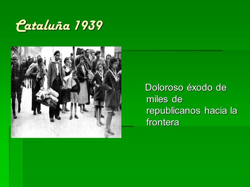 Cataluña 1939 Doloroso éxodo de miles de republicanos hacia la frontera